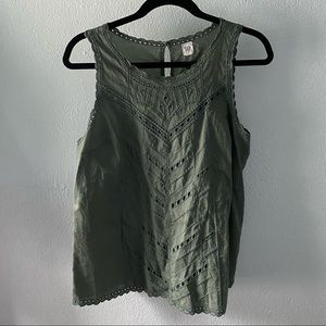 Olive Green Gap Tank Top